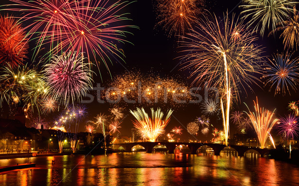 Happy fireworks display Stock photo © Smileus