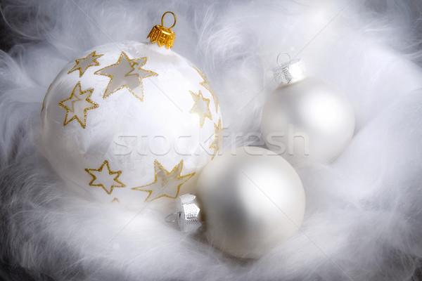 álomszerű karácsony egyezség ezüst bolyhos fehér Stock fotó © Smileus