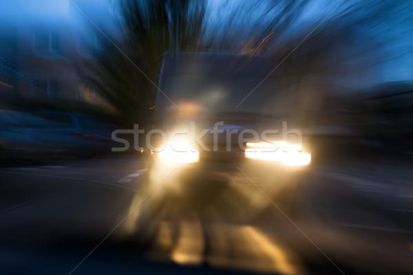 Risco carro acidente tem ameaçador maneira Foto stock © Smileus