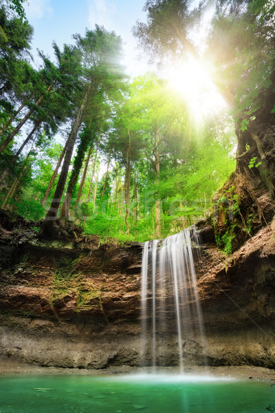 Fascinating landscape with waterfalls Stock photo © Smileus
