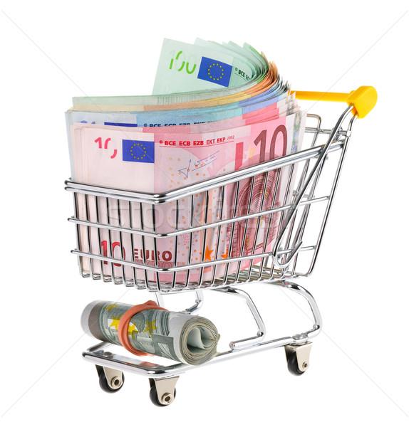 Корзина наличных евро Сток-фото © Smileus