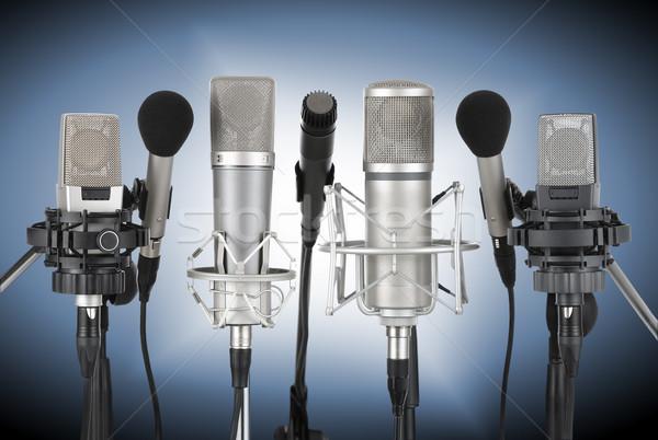 Set of professional microphones Stock photo © Smileus