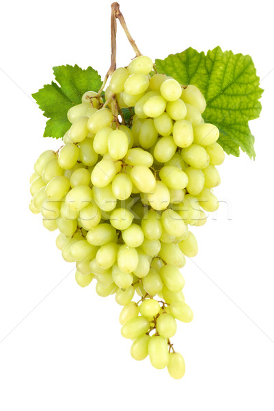 Sweet seedless green grapes on white Stock photo © Smileus
