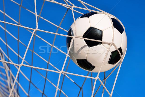 футбола цель Blue Sky Футбол нейтральный дизайна Сток-фото © Smileus