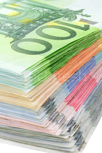 Colorido euros billetes estudio primer plano Foto stock © Smileus