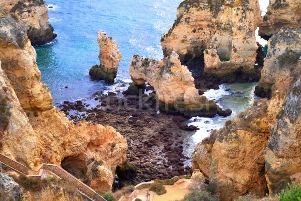 Scenic coast in Algarve, Portugal Stock photo © Smileus