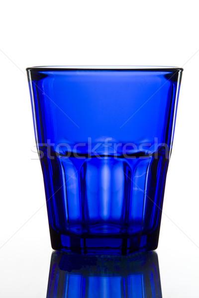 dark blue empty glass Stock photo © smoki