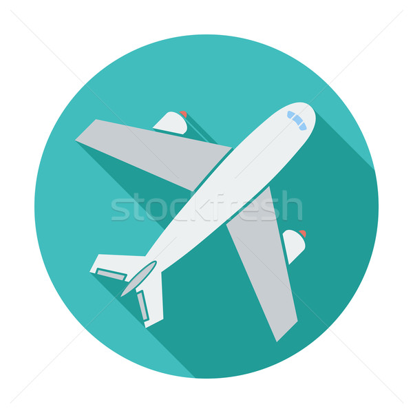 Repülőtér ikon szín terv felirat háló Stock fotó © smoki