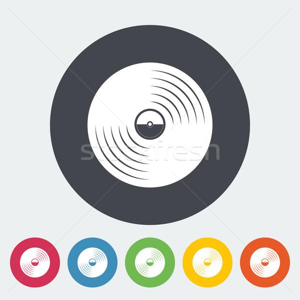 Lemez ikon kör diszkó retro hang Stock fotó © smoki