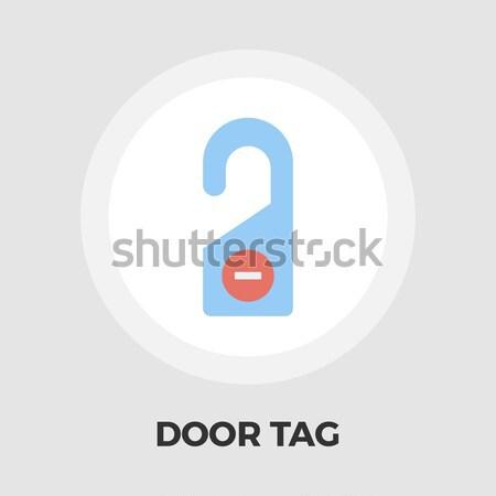 Drzwi tag kolor ikona podpisania relaks Zdjęcia stock © smoki