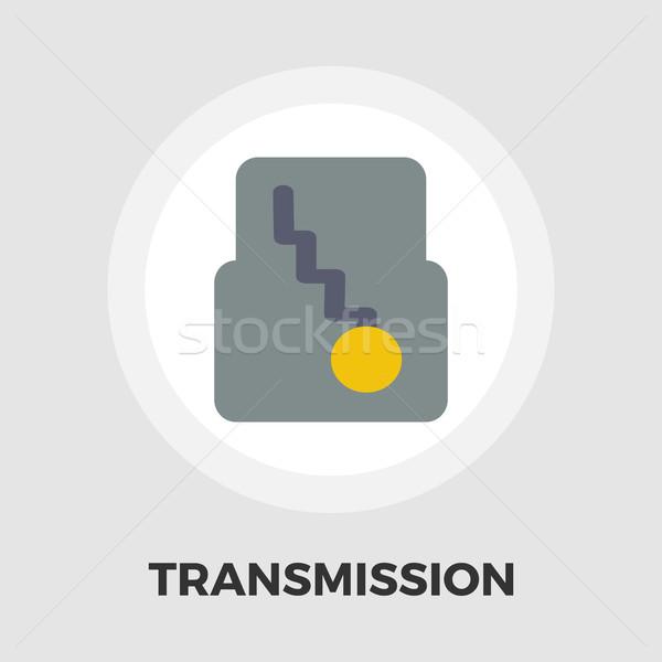 Automatisch versnelling icon vector geïsoleerd witte Stockfoto © smoki