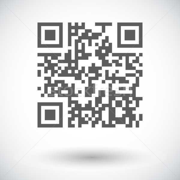 Qr code icon witte business computer abstract Stockfoto © smoki