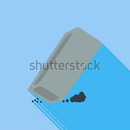Eraser икона белый бизнеса служба искусства Сток-фото © smoki