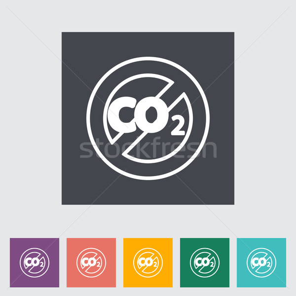 CO2 flat icon Stock photo © smoki