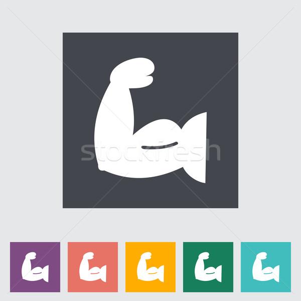 Symbol Bodybuilding Modell Gesundheit Fitnessstudio Ausübung Stock foto © smoki