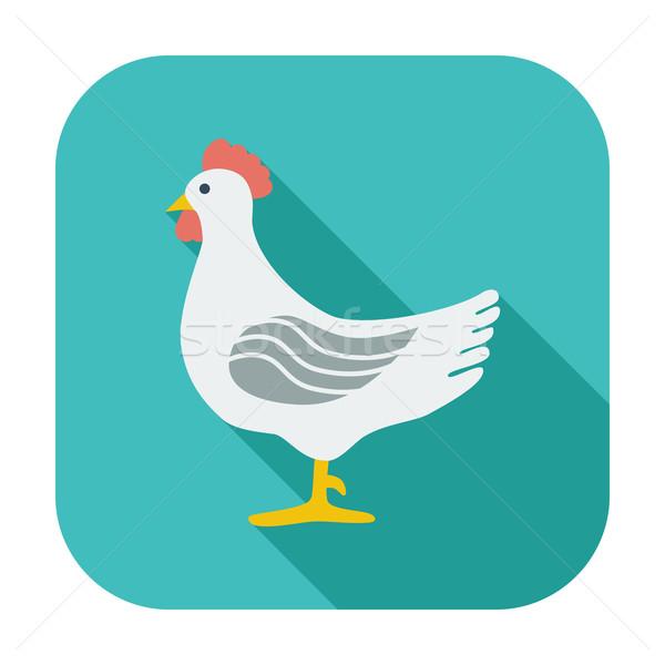 Chicken single icon. Stock photo © smoki