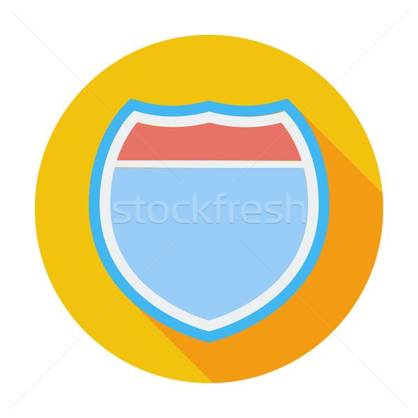 Senalización de la carretera color icono carretera calle signo Foto stock © smoki