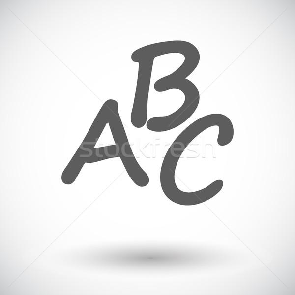 алфавит икона белый студент искусства образование Сток-фото © smoki