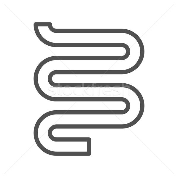 Heated towel line icon Stock photo © smoki