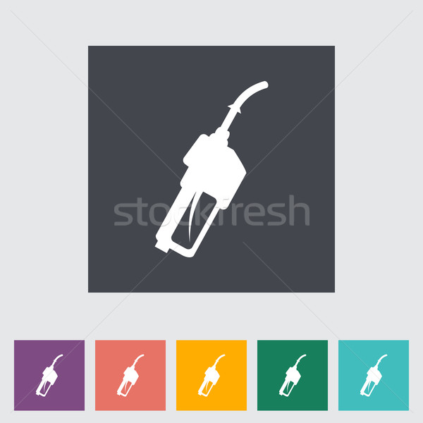 Refueling nozzle flat icon. Stock photo © smoki