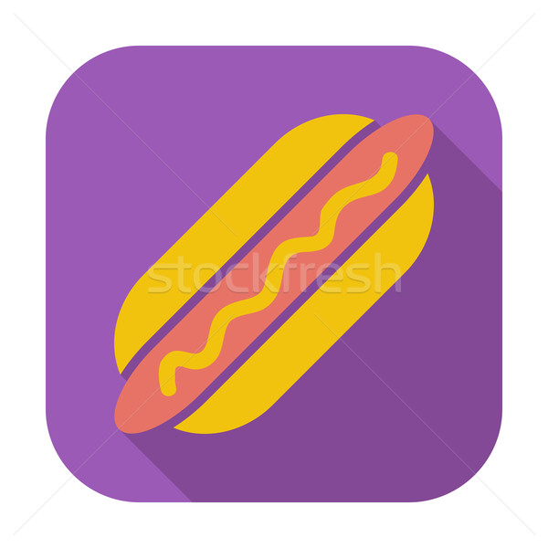 Hot dog colore icona alimentare design segno Foto d'archivio © smoki