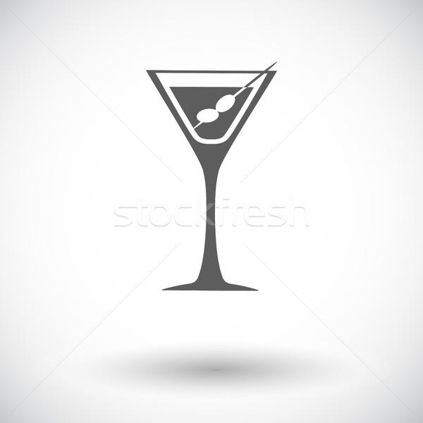 マティーニ アイコン 白 食品 デザイン ガラス ストックフォト © smoki