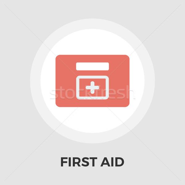 First aid vector flat icon vector illustration © Oleksii Afanasiev