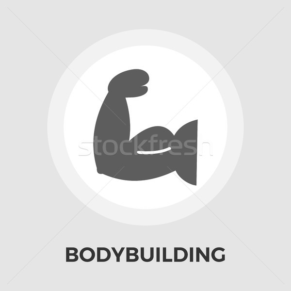 Bodybuilding vettore icona isolato bianco Foto d'archivio © smoki