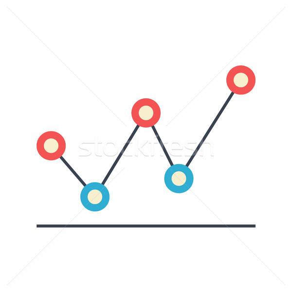 Line Diagram Flat Vector Icon Stock photo © smoki