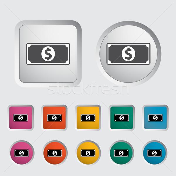 Stockfoto: Dollar · icon · zwarte · silhouet · eps · business
