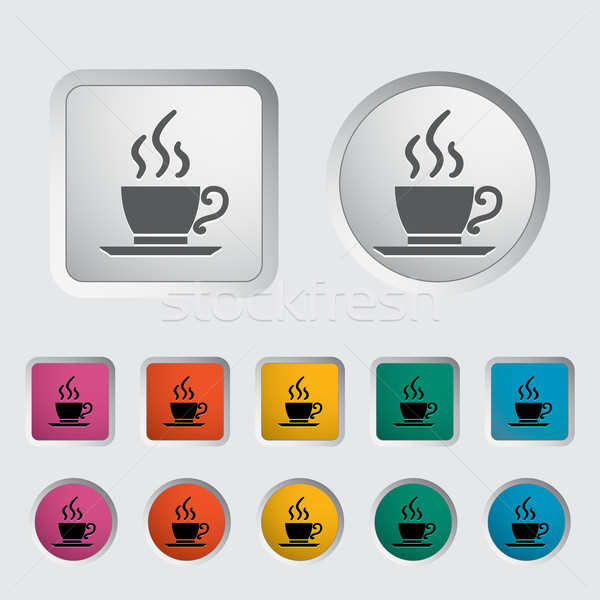 Stock photo: Cafe single icon.