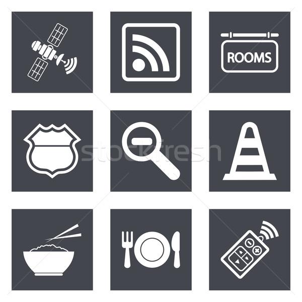 Ikonok web design szett 26 mobil applikációk Stock fotó © smoki