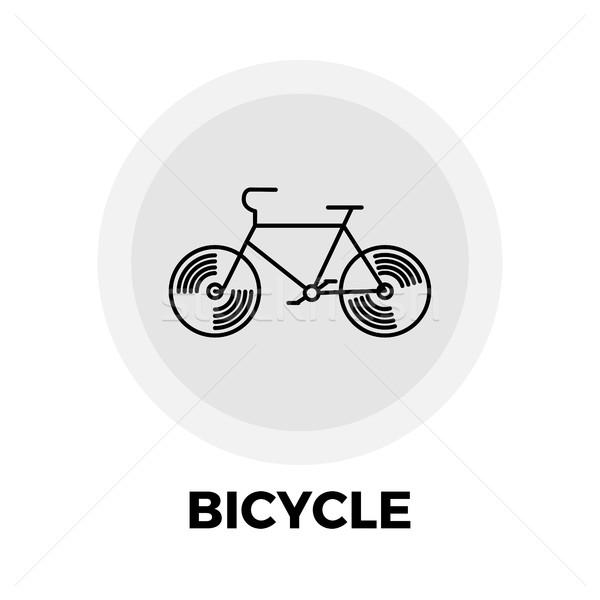 Stock photo: Bicycle line icon