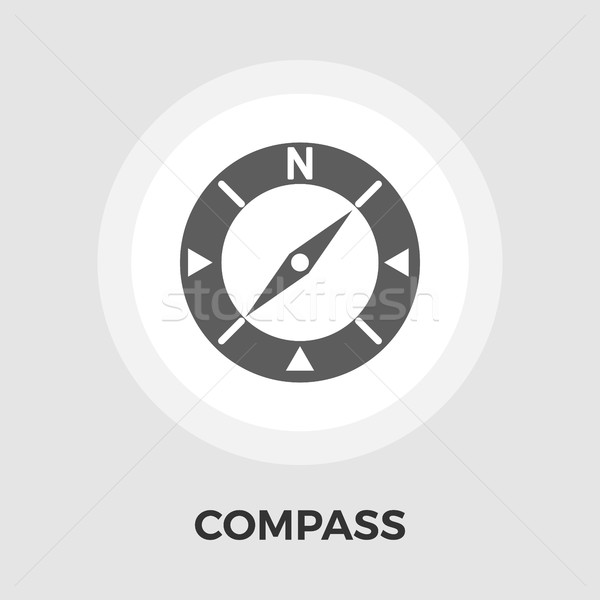 Compass Flat Icon Stock photo © smoki