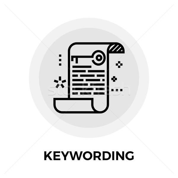 Stock photo: Keywording Line Icon