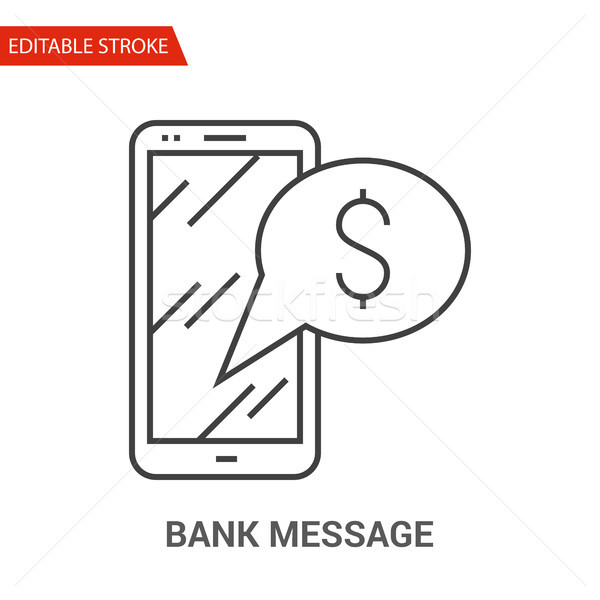 Bank Message Icon. Thin Line Vector Illustration Stock photo © smoki