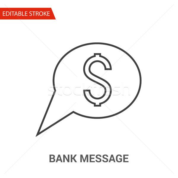 Bank Message Icon. Thin Line Vector Illustration Stock photo © smoki
