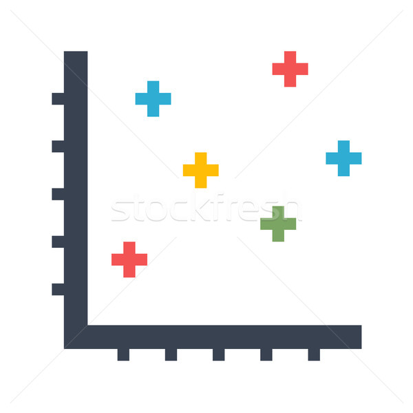 Stock photo: Dot Chart Vector Icon