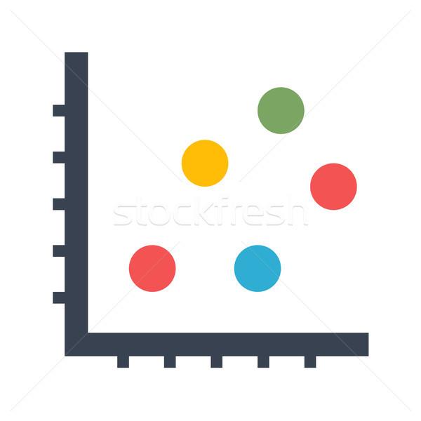Dot Chart Vector Icon Stock photo © smoki
