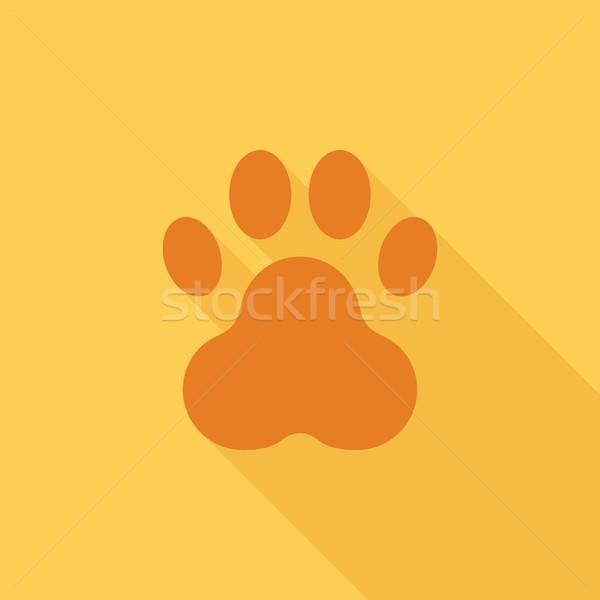 Pençe ikon vektör web hareketli uygulamaları Stok fotoğraf © smoki