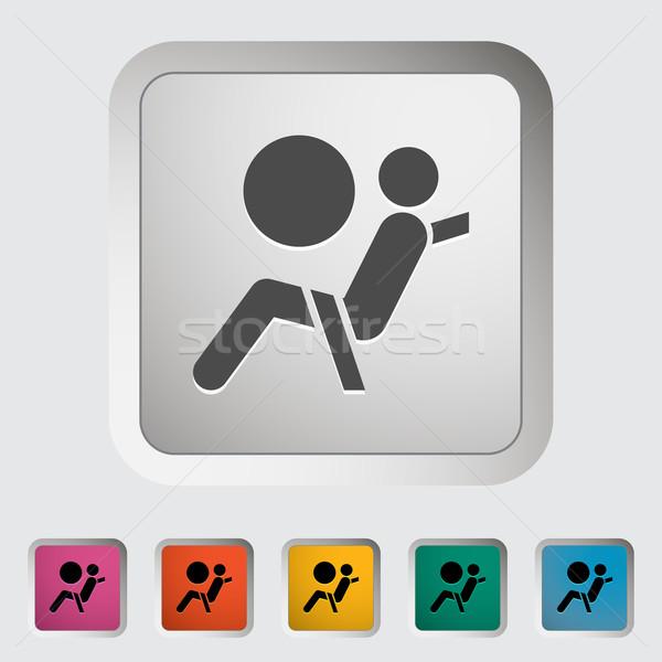 Asiento cinturón signo auto conductor vector Foto stock © smoki