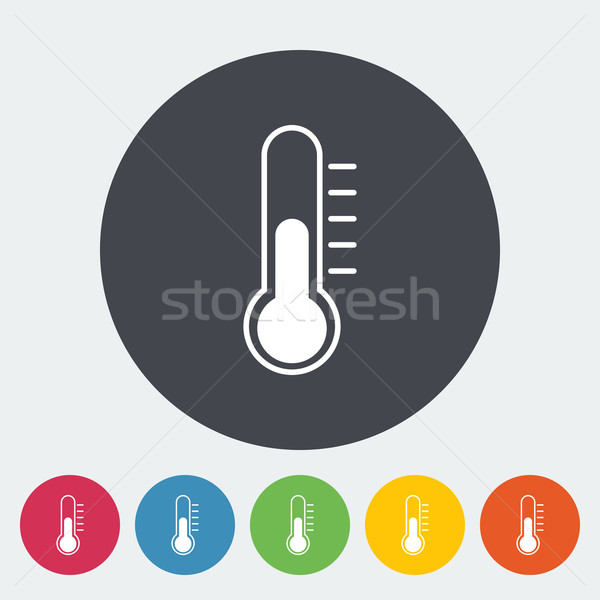 Termômetro ícone botão médico assinar vermelho Foto stock © smoki