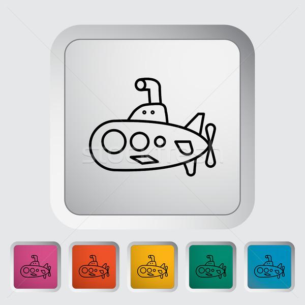 подводная лодка тонкий линия вектора веб Сток-фото © smoki