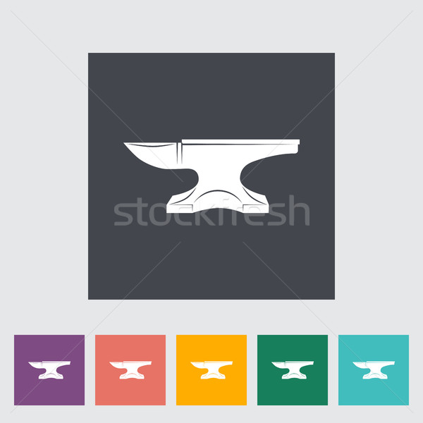 Anvil. Blacksmith equipment. Stock photo © smoki