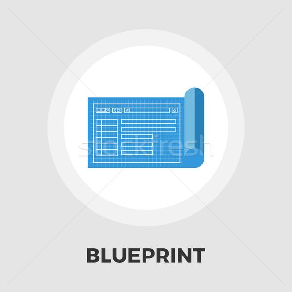 Blueprint flat icon Stock photo © smoki