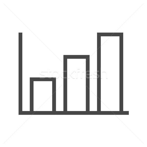 Gráfico de barras vector icono delgado línea aislado Foto stock © smoki