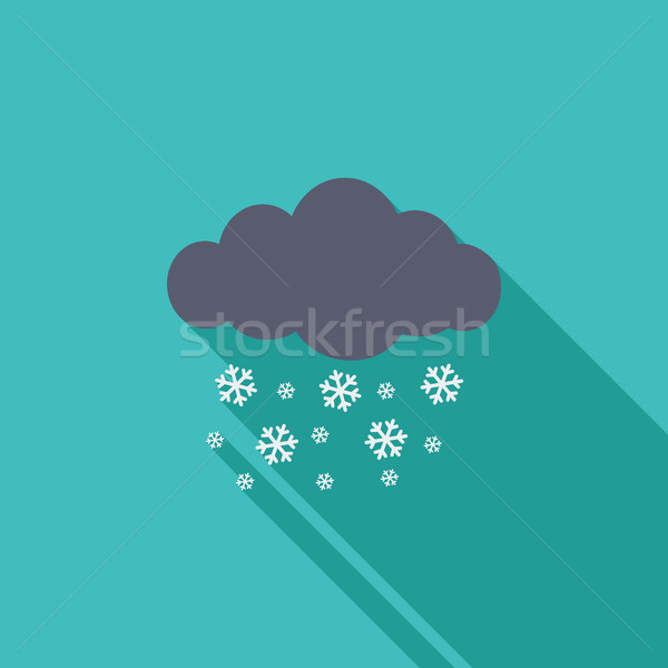 Snowfall single icon. Stock photo © smoki