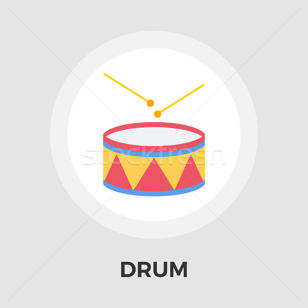 Drum vector flat icon Stock photo © smoki