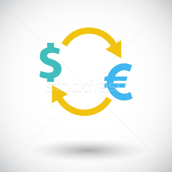 Valuta scambio icona bianco business lavoro Foto d'archivio © smoki