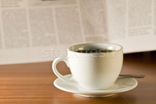 coffee and newspaper Stock photo © smoki